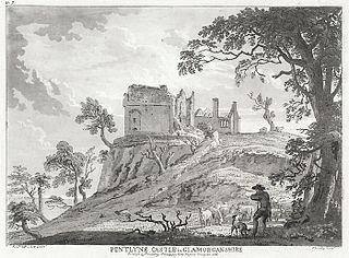 Pentlyne castle in Glamorganshire