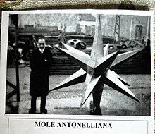 La stella della Mole (a fianco il cav. Giuseppe Perottino)