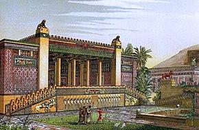 Representation palace of Darius at Persepolis
