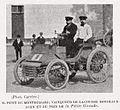 Petit (de Montbéliard), vainqueur de Bordeaux-Agen 1898 sur Peugeot (La Vie au Grand Air, 15 juillet 1898).jpg