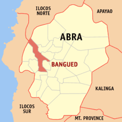 Map of Abra showing the location of Bangued