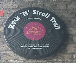Photo of Phil Lynott black plaque