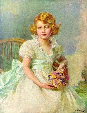 Elizabeth II - Princess Elizabeth aged seven, painted by Philip de László, 1933