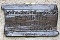 Philippskirche Kranichberg Tafel Weihe.jpg