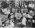 """Photograph of President Truman holding a press conference on the lawn of the """"Little White House,"""" his vacation... - NARA - 199048.jpg"""