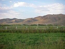 Colinas, montañas y campos de regadío de Picabo