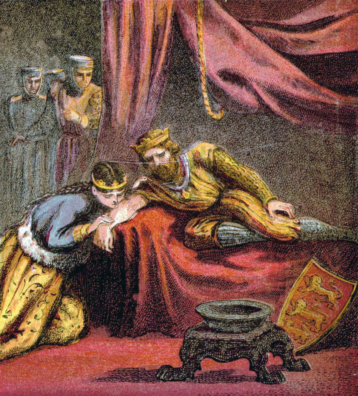 Pictures of English History Plate XXVI - Prince Edward and His Wife.jpg