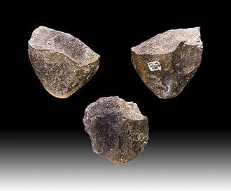 Oldowan - Oldowan choppers dating to 1.7 million years BP, from Melka Kunture, Ethiopia