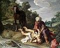 Pieter Lastman - De Barmharige Samaritaan verzorgt de gewonde reiziger.jpg