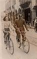 Pietro con la mogle Rina in bici a Udine.jpg