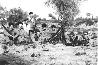 6th Airborne Division in Palestine - Haganah unit circa 1942–1947 armed with an assortment of British weapons
