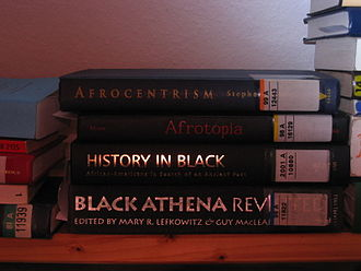 Afrocentrism - Pile of books on Afrocentrism