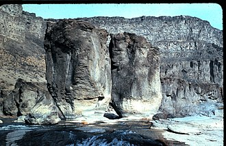 Pillar Falls - Image: Pillars at Pillar Falls Snake River Canyon, Twin Falls, Idaho