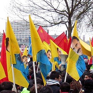 Kurdistan Workers Party supporters in London.