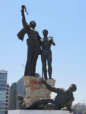 Martyrs' Square, Beirut - Image: Place des martyrs, Beirut, Monument 2016 1