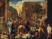 Nicolas Poussin (1594-1665), French. The Plague of Ashdod, 1630. Oil on canvas, 148 x 198 cm. Musée du Louvre, Paris, France, Giraudon/Bridgeman Art Library.