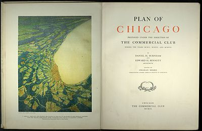 Plan of Chicago by Burnham & Bennett 1909, title pages.jpg