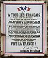 Plaque Charles de Gaulle, Rue du Général-Delestraint, Paris 16.jpg