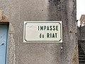 Plaque Impasse Riat - Solutré-Pouilly (FR71) - 2021-03-02 - 2.jpg