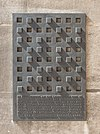 Plaque commemorating displaced members of the Medical Faculty 1938-1945, Nr. 123, in the Arkadenhof of the University of Vienna 3206.jpg