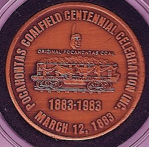 Pocahontas Coalfield - Pocahontas Coalfield Centennial Celebration medal