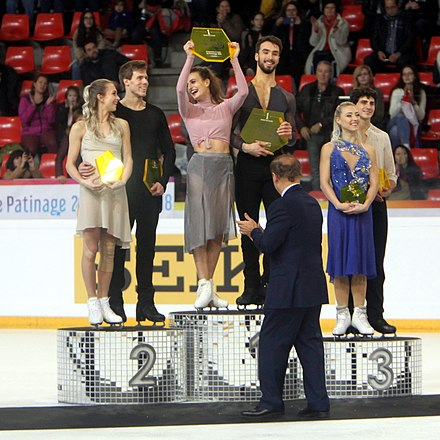 Ice dancing podium