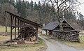 Poertschach Winklern Brockweg Brennholzstapel und alte Schmiede 23022016 0665.jpg