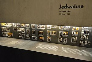 Jedwabne pogrom - Part of core exhibition dedicated to Jedwabne pogrom at the Museum of the History of Polish Jews in Warsaw