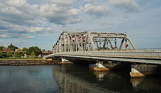 Providence River - Point Street Bridge, spanning the Providence River
