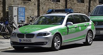 Take-home vehicle - German police car (Bavaria, green)