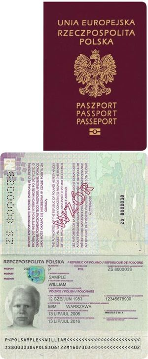 Polish nationality law - Polish passport – issued to Polish citizens to travel outside the EU