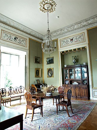 Nieborów Palace - The Green Study Room