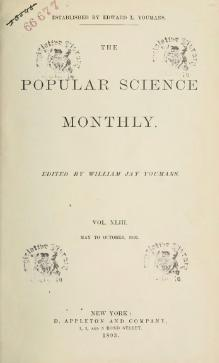 Popular Science Monthly Volume 43.djvu