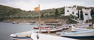 Cadaqués - The adjacent village of Port Lligat, with Dalí's home at right