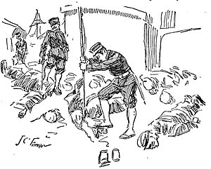 Port Arthur massacre (China) - A Western newspaper's depiction of Japanese soldiers mutilating bodies