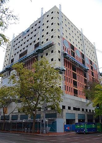 Portland Building - Reconstruction under way in October 2018