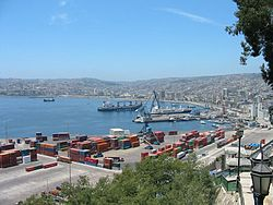 Valparaíso, Chile, the main port in Chile