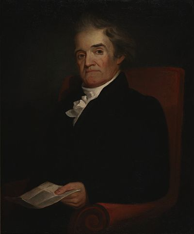 Noah Webster painted by Samuel F. B. Morse