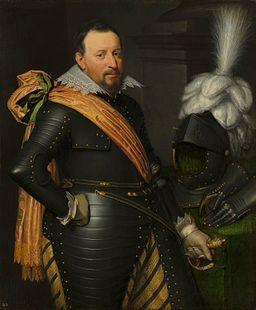 Portrait of an Officer, possibly Adolf van Meetkerken, by Jan van Ravesteyn Het Loo Palace
