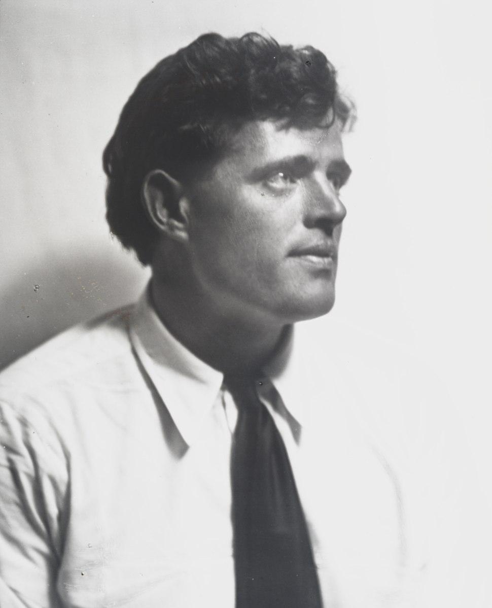 Portrait photograph of Jack London