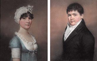 James Sharples - Portraits of a man and a woman, by James Sharples