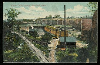 Portland, Connecticut - Brownstone quarry, about 1911