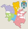 Poznań - jednostki pomocnicze na tle dzielnic.png