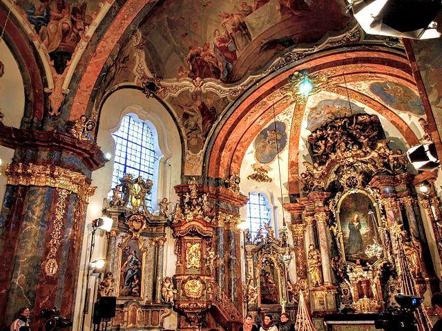 Intérieur de l'église de Lorette à Prague - Photo de Vivit.