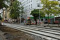 Praha, Holešovice, Komunardů, rekonstrukce tramvajové trati II.jpg