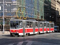 Tramvaj Tatra KT8D5 v Praze