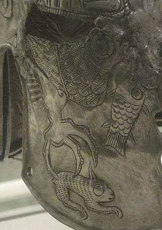Helmet of Iron Gates - The predatory eagle-hare motif of Iron Gate helmet