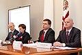 Preses konference par Ministru prezidenta Valda Dombrovska vadītās trešās valdības veikumu pirmajās simts dienās un nākotnes iecerēm (6770469211).jpg