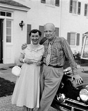 President & Mrs. Dwight D. Eisenhower 39th wedding anniversary at their farm in Gettysburg, Penn.jpg