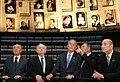 President George W. Bush visits the Hall of Names in Yad Vashem.jpg